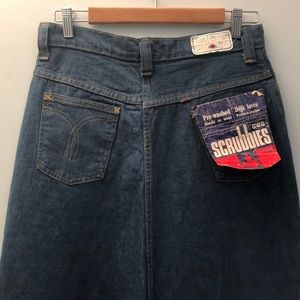 Vintage GWG Maxi Denim Skirt